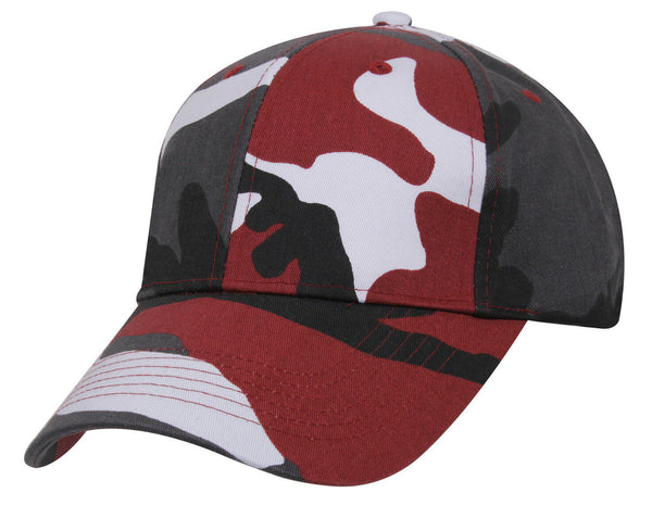 Low Profile Camo Cap Red Camouflage Baseball Hat Rothco 7955