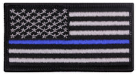 tactical patch usa us flag blue line police law enforcement rothco 1709