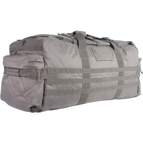 Grey Military Duffle Jumbo Patrol Bag Backpack Shoulder Travel Bag Fox 54-6909