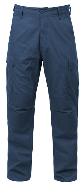 military bdu style pants navy blue rip stop tactical uniform trouser rothco 5929