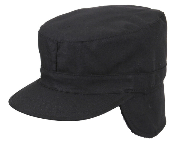 Military Ear Flap Fatigue Caps Army Patrol Hat Winter black rothco 5812
