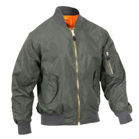 Mens Green Jacket Lightweight MA-1 Flight Military Bomber Style Rothco 6325