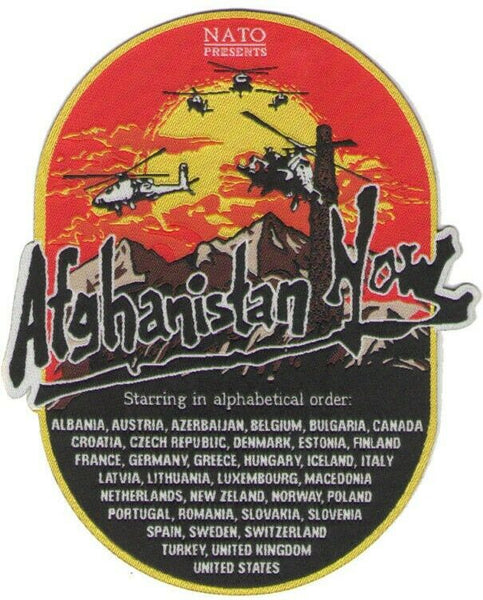 military patch Afghanistan Now patch ISAF Enduring Freedom OEF
