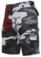 Mens Two Tone Camo BDU Shorts Red City Camouflage Rothco 1825