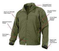 soft shell jacket covert ops tactical lightweight various colors rothco 5262