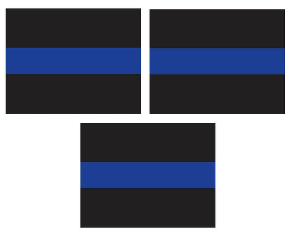 Auto Decal Police Thin Blue Line for Cars Home Windows Set of Three Rothco 1193