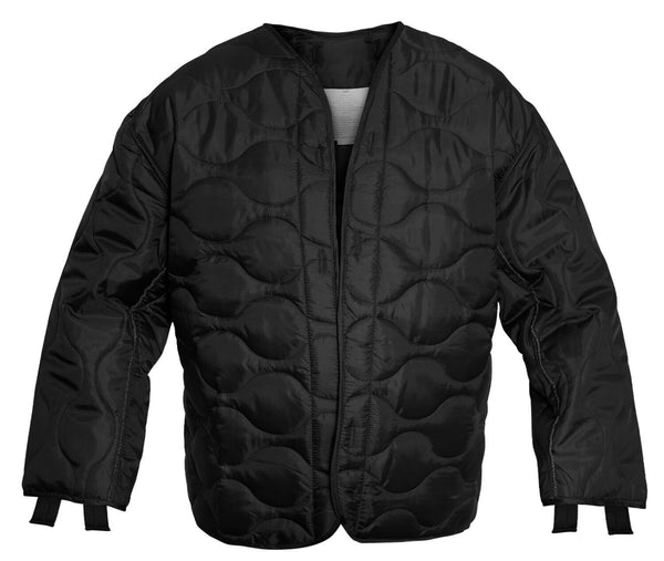 M-65 FIELD JACKET LINER BLACK QUILTED NYLON ROTHCO 8294