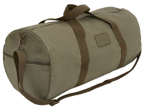 Two Tone Gym Travel Canvas Bag Loop Field for Patch 24 Inches Long Rothco 2238