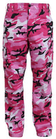 Pink Camouflage Military BDU Cargo Bottoms Fatigue Trouser Camo Pants 8670