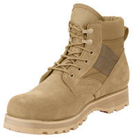 "Desert Tan Military Combat Work Boots 6"" Boot Rothco 5288"
