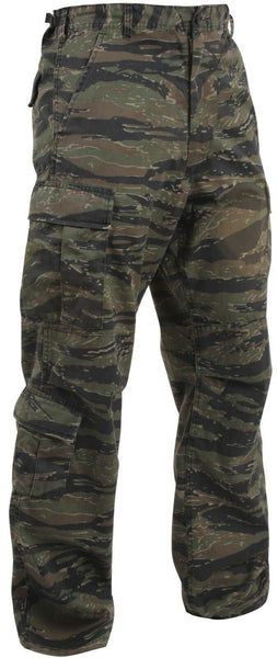 Military Pants Vintage Style Tiger Stripe Camo Paratooper Fatigues Rothco 2710