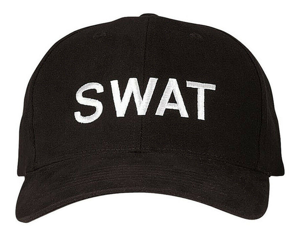 Black SWAT Uniform Baseball Cap Ballcap Hat Low Profile Rothco 5322