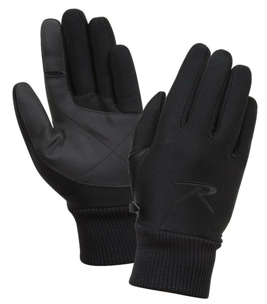 soft shell gloves windproof waterproof breathable cold weather rothco 4464