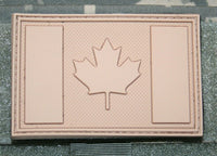 "canada flag patch tan pvc hook and loop backing canadian tactical 3"" x 2"""
