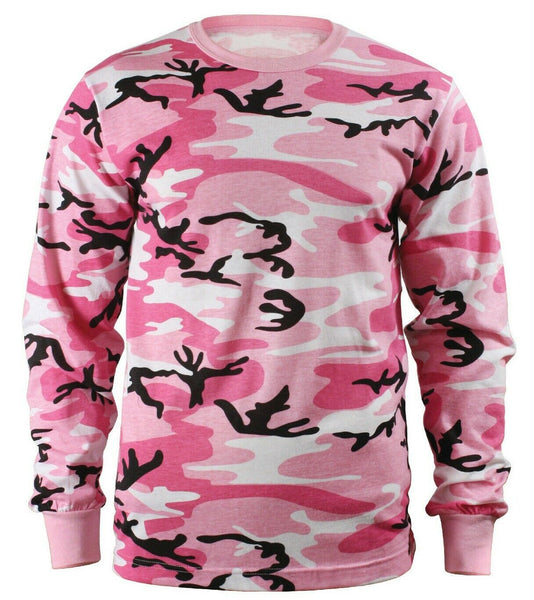 LS T-shirt Pink Camo Camouflage Long Sleeve Shirt Warm Undershirt Rothco 8497
