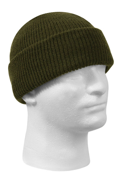Military Style Wool Watch Cap Winter Hat Olive Drab Made In USA Rothco 5779