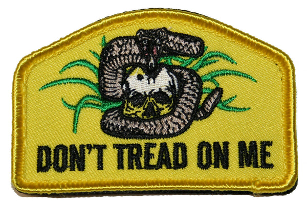 "Dont Tread On Me Patch Gadsden Rattlesnake Skull Design 3"" x 2"""