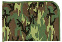 "infant receiving blanket camo baby woodland 100% cotton 28"" x 40"" rothco 2450"