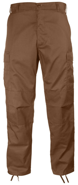Brown Military Style BDU Pants Cargo Trousers Brown Uniform Fatigues Rothco 8578