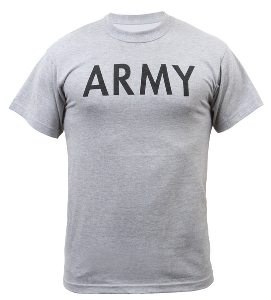 US Army PT Style T-shirt Grey Cotton Polyester Blend Rothco 6080