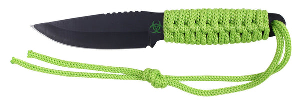 "Zombie Paracord Survival Utility Knife w/ Fire Starter & Sheath 8"" Rothco 3677"