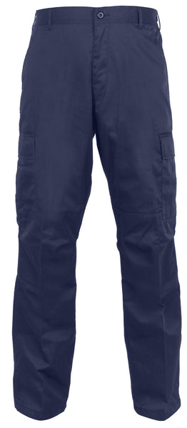 Tactical Pants BDU Style Relaxed Fit Cargo Trousers Blue Zipper Fly Rothco 2961