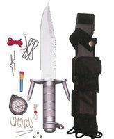 ramster combat survival kit knife compass hunting fish emergency safety 3052