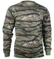 t-shirt camo tiger stripe camouflage long sleeve cotton poly blend rothco 66787