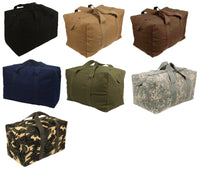 canvas military parachute cargo bag large size rothco 3123