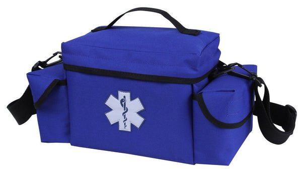 blue ems bag emt medic rescue pack with shoulder strap rothco 2743