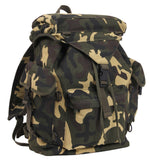 Canvas Woodland Camo Backpack Rucksack Outdoorsman Pack Rothco 2306