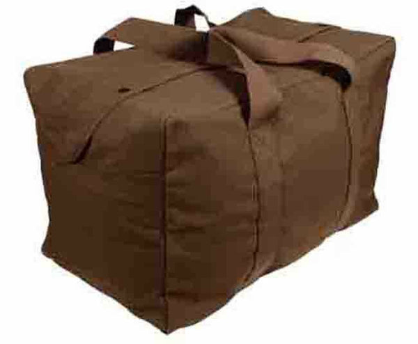 large cargo bag parachute canvas earth brown rothco 3523