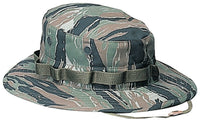 Tiger Stripe Camo Booniehat Wide Brim Bucket Boonie Jungle Hat Rothco 5816