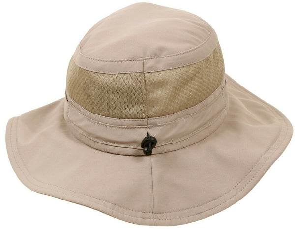Wide Brim Booniehat Khaki Adjustable Mesh Sun Jungle Boonie Hat Rothco 59555