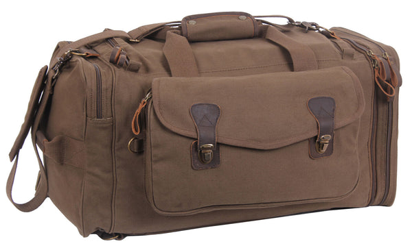 Canvas Bag Extended Weekend Travel Pack Backpack Brown Rothco 8779