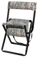 ACU Digital Camo Deluxe Portable Folding Chair Stool with Pouch Back Straps 4378