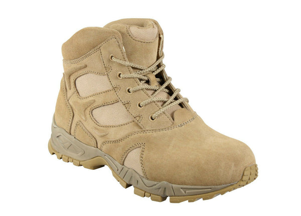 "Desert Tan Military Forced Entry Deployment Combat Tactical 6"" Boots Rothco 5368"