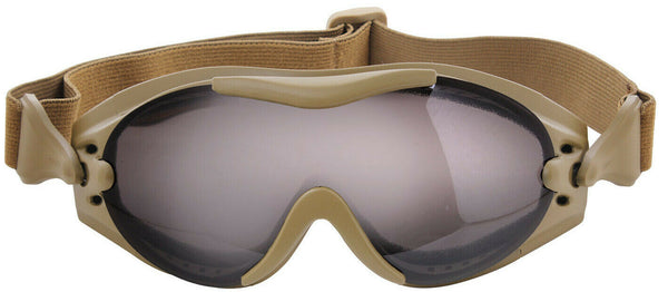 Tactical Goggles Military Style Coyote Brown Single Lens Goggle Rothco 11397
