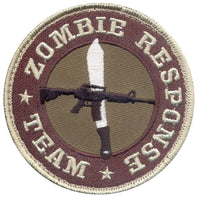 patch zombie response team hook backing rothco 72195