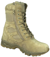 Desert Tan Military Boot Side Zipper Deployment Combat Boots Rothco 5357