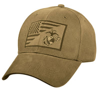 USMC Military Cap Globe Anchor Coyote Brown Low Profile Cotton Baseball Hat 7185