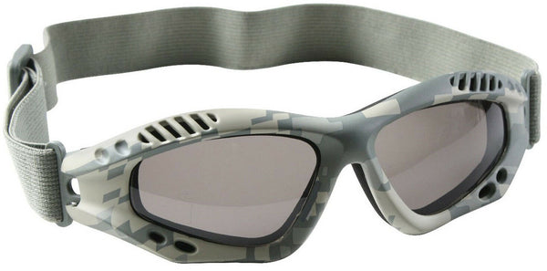 Tactical Goggles ACU Digital Camo Lightweight UV 400 Protection Rothco 10378