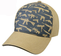 Guns Weapons Pistols Rifles Khaki Ballcap Baseball Cap Rothco 9733