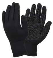 touch screen gloves with gripper dots black rothco 8516