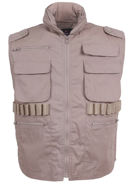 ranger travel hunting vest tactical khaki rothco 6551