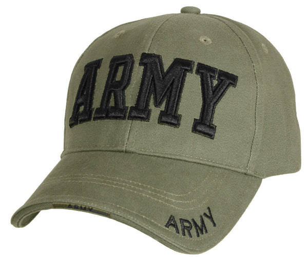 US Army Ballcap Hat Baseball Cap Style Olive Drab 3 d Embroidery Rothco 9508