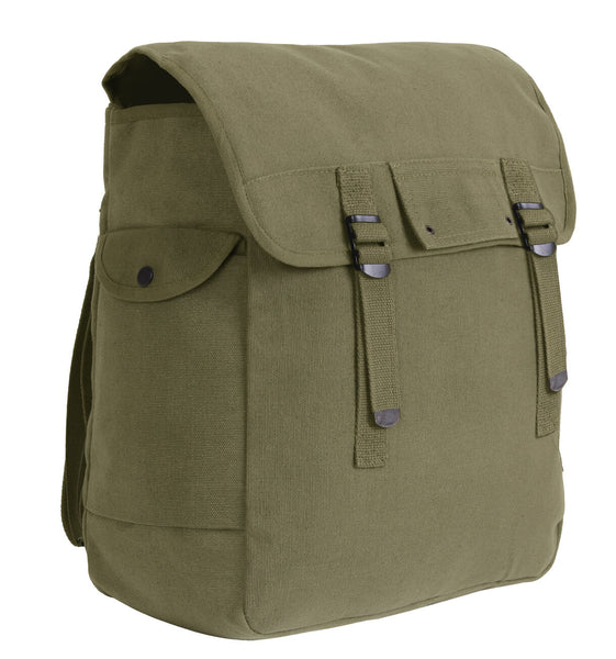 "Jumbo Musette Bag Backpack Canvas 15"" x 15"" x 5"" rothco 2353 2355"
