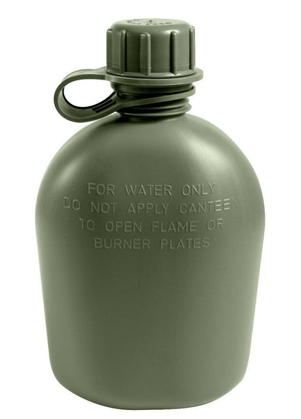 Olive Drab GI 1 Quart OD Plastic Canteen US Made Military Bottle Rothco 605