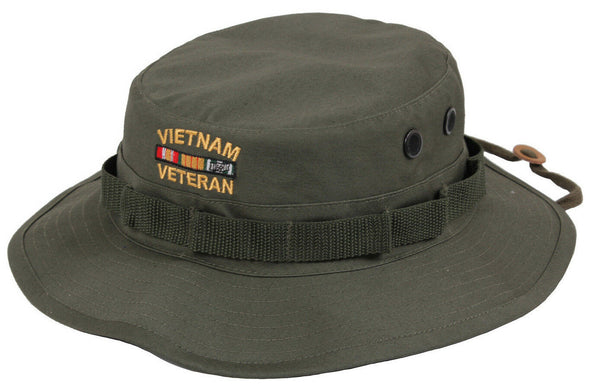 OD Booniehat Vietnam War Veteran Olive Drab Green Sun Jungle Hat Rothco 5911