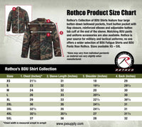 Army ACU Digital Camo BDU Shirt Military Style Uniform Coat Rothco 8695